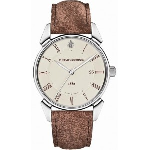 Cuervo y Sobrinos Historiador Central Second Cream Dial